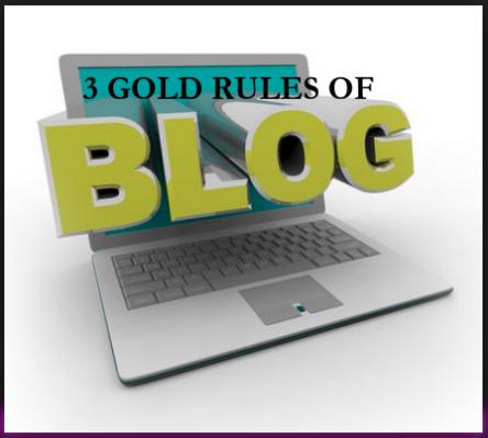 3 GOLDEN RULES OF GLOGGING